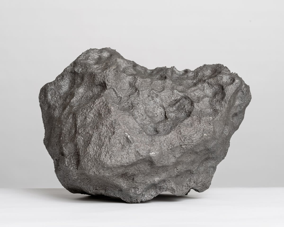 Katie Paterson Campo del Cielo, Field of the Sky (72,400g), 2014 Found meteorite, cast melted and re-cast back into a new version of itself 39.3 x 30 x 27 cm