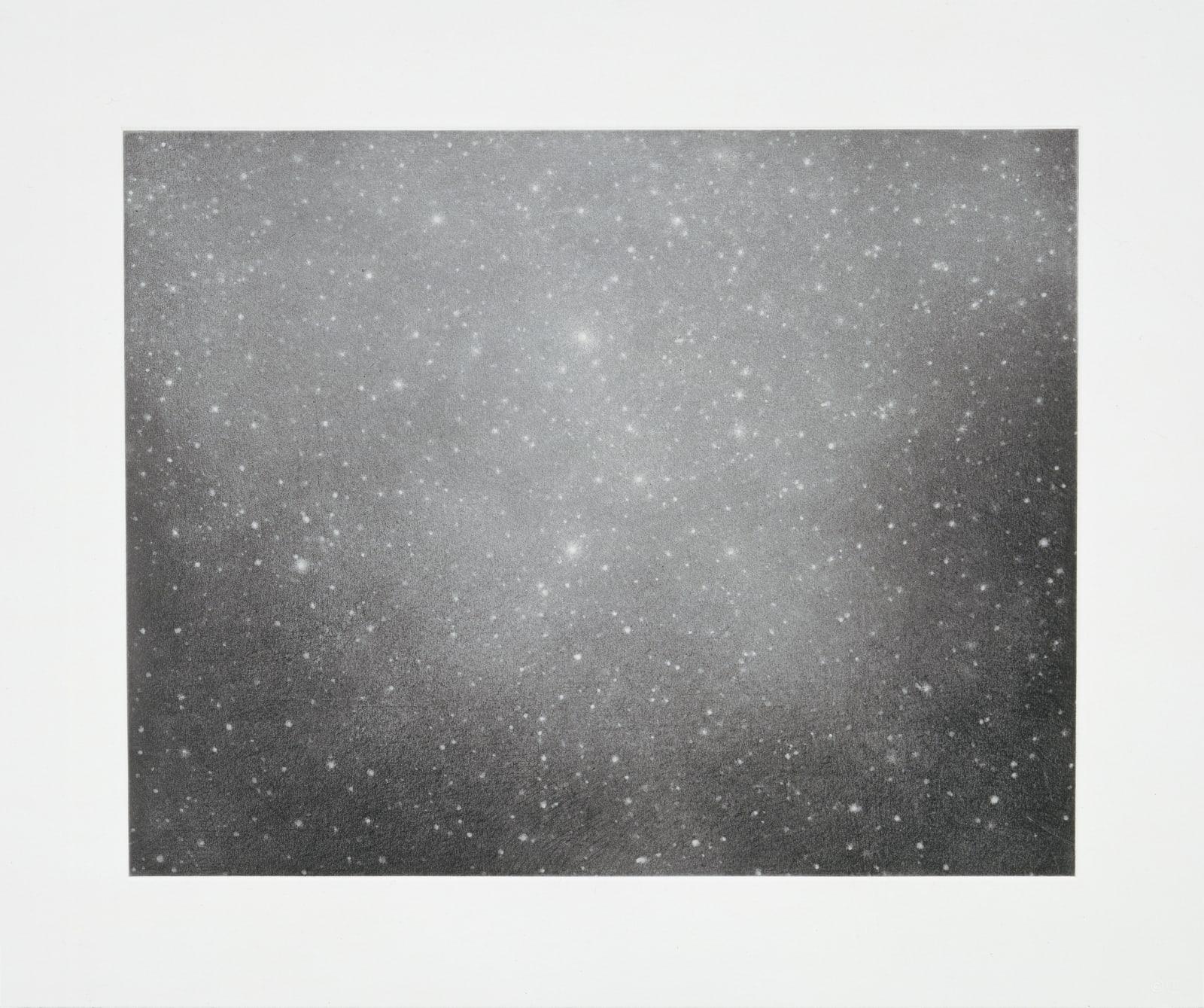 Vija Celmins Night Sky 3, 2002 single colour print with photogravure, aquatint & drypoint 50.17 x 60.33 cm19 3/4