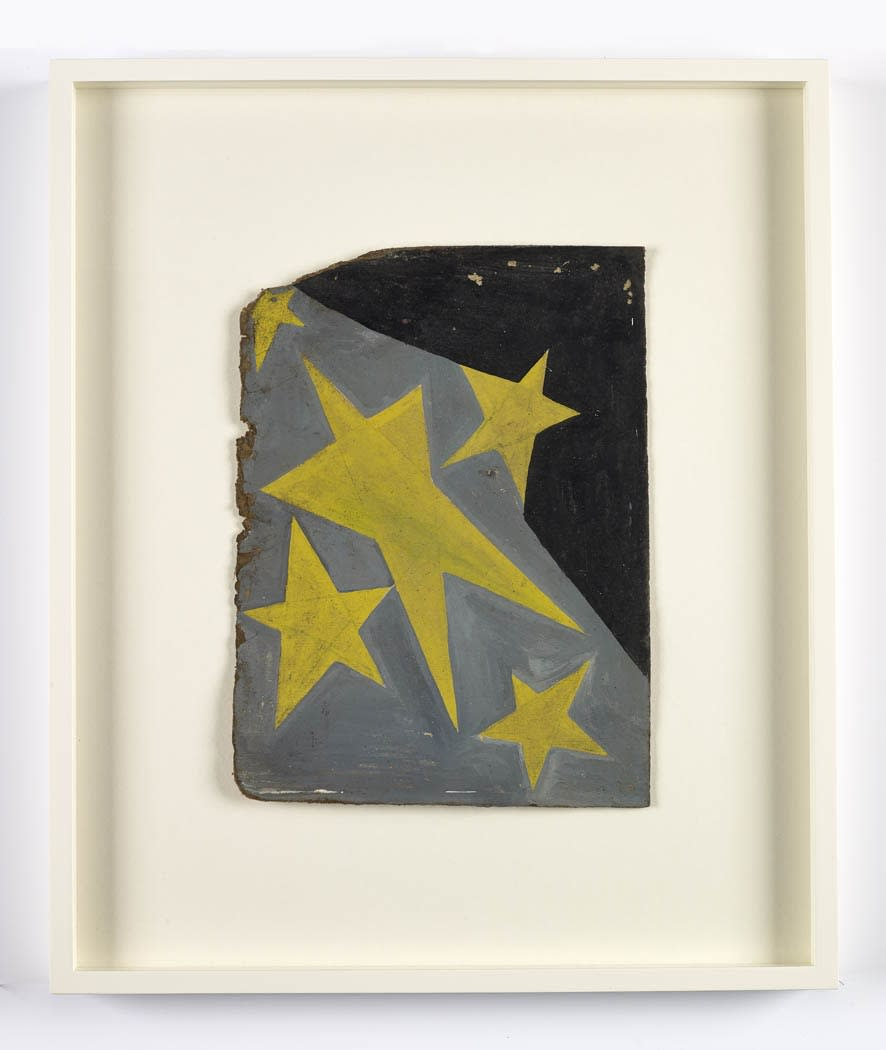 Frank Walter Four Stars oil on board 30 x 22 cm/ 11 3/4 x 8 5/8 in (page size) 49.8 x 41.5 cm/ 19 5/8 x 16 3/8 in (framed)