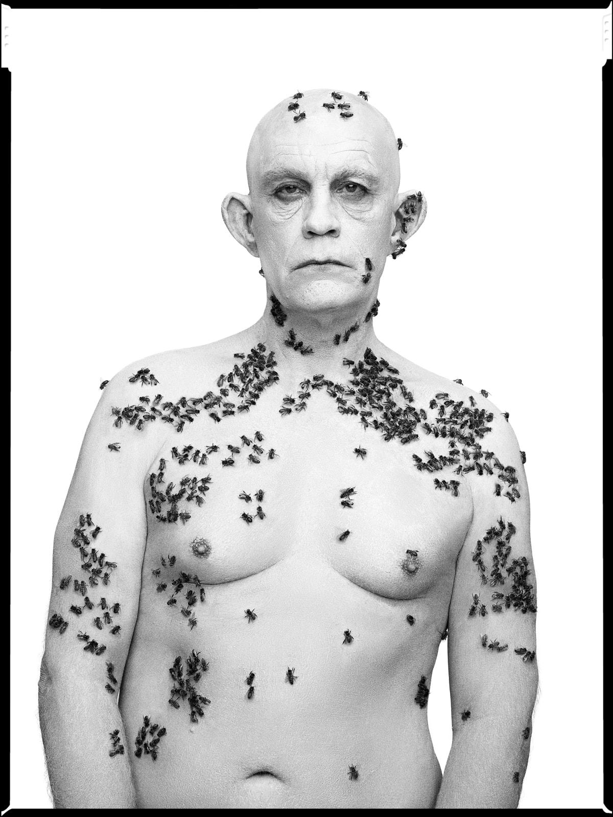 Sandro Miller, Richard Avedon / Ronald Fisher, Beekeeper, Davis, California, May 9 (1981), 2014