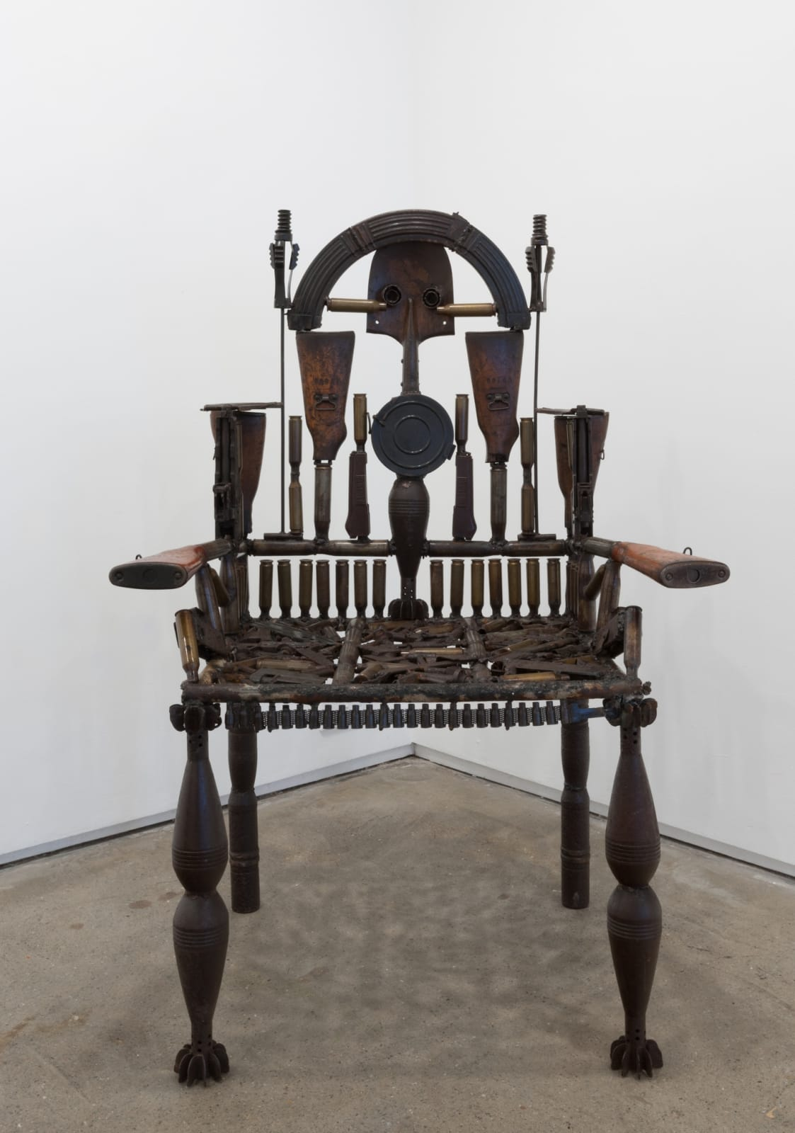 Goncalo Mabunda  Untitled Throne, 2015  Decommissioned arms  136 x 92 x 64 cm