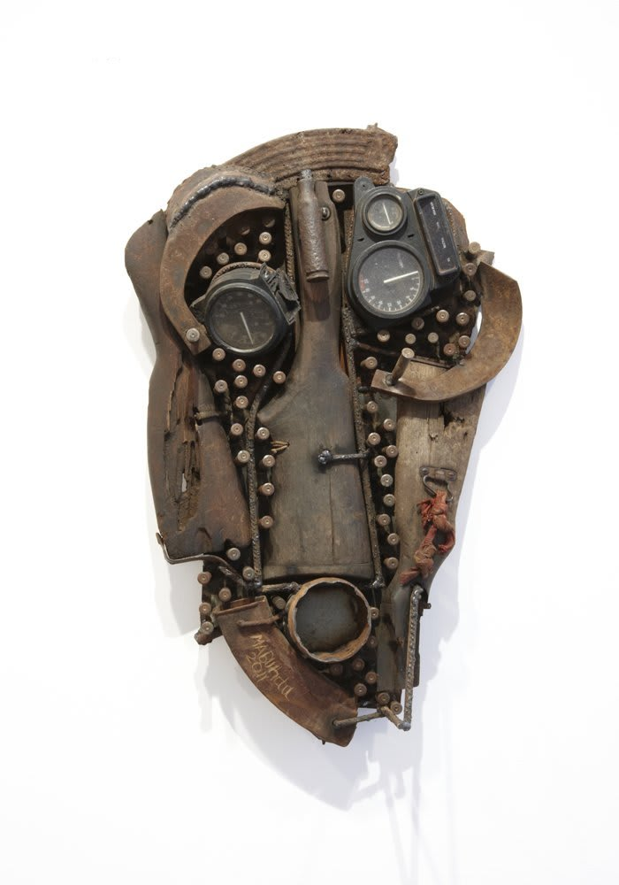 Goncalo Mabunda  Untitled (Mask), 2011  Decommissioned welded arms  71 x 47 x 14 cm