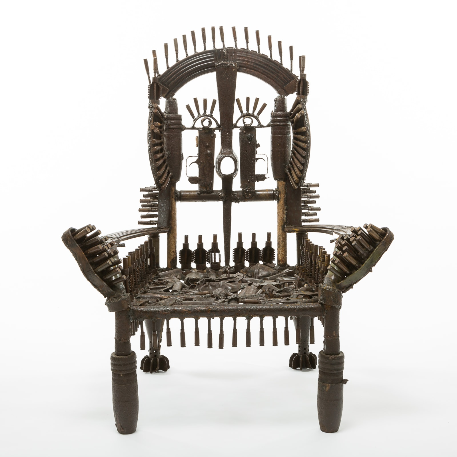 Goncalo Mabunda  The Throne of the Shining Dream, 2016  Decommissioned arms  71 x 55 x 93 cm
