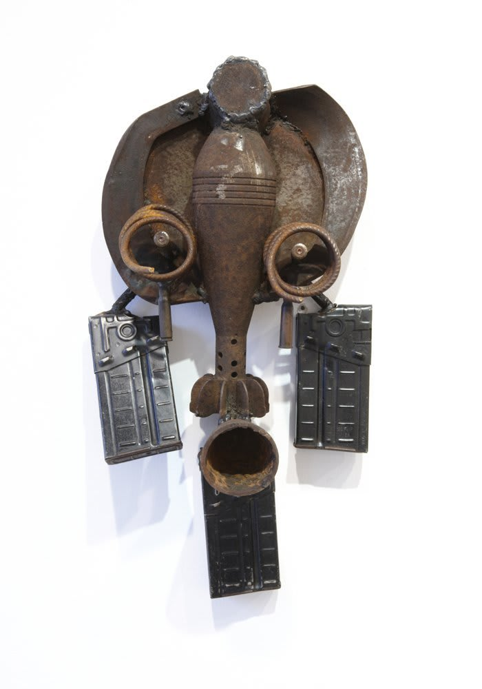 Goncalo Mabunda  Untitled (Mask), 2011  Decommissioned welded arms  55 x 27 x 14 cm