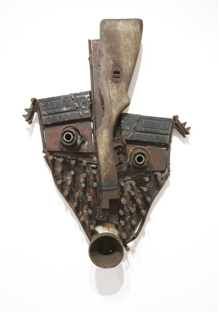 Goncalo Mabunda  Untitled (Mask), 2011  Decommissioned welded arms  69 x 45 x 10 cm