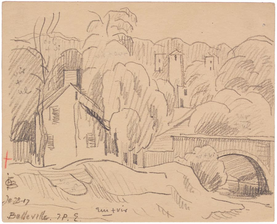 Oscar Florianus Bluemner, BELLEVILLE, 1917