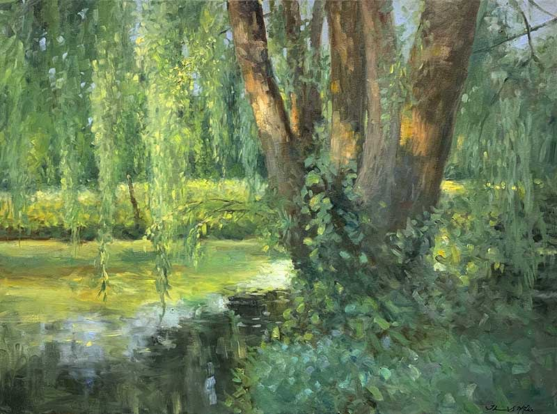 Thomas McNickle, WILLOW POND-EVENING SHADOWS, 2020