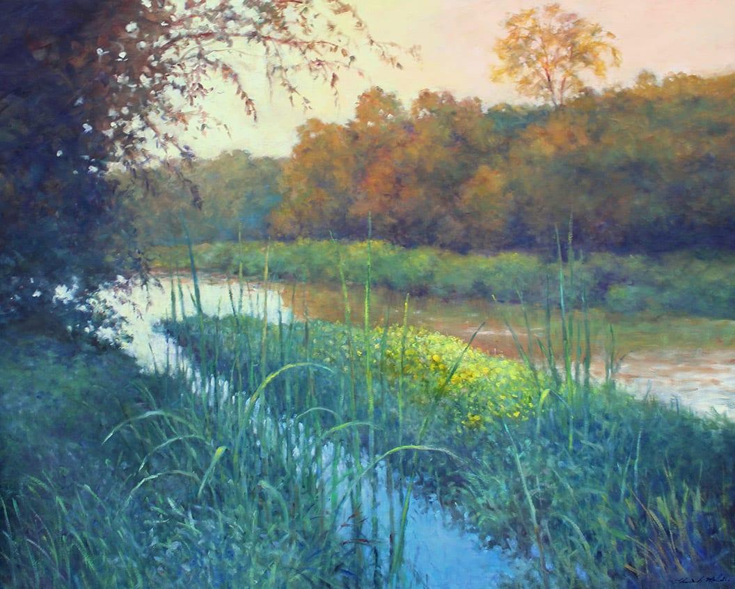 Thomas McNickle, BULLRUSHES-NEWPORT LAKE, 2020