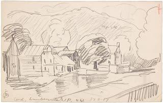 Oscar Florianus Bluemner, CANAL, LUMBERVILLE, PA, 1917