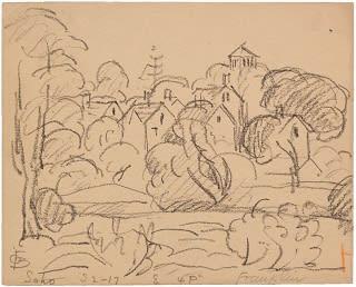 Oscar Florianus Bluemner, SOHO, FRANKLIN, 1917