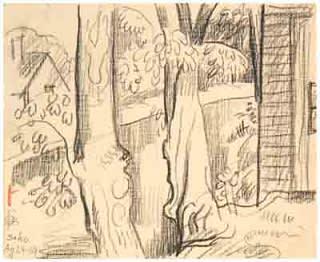 Oscar Florianus Bluemner, CANAL AT SOUTH SHORE SOHO, 1919