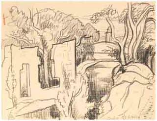 Oscar Florianus Bluemner, RUIN SOHO, 1919