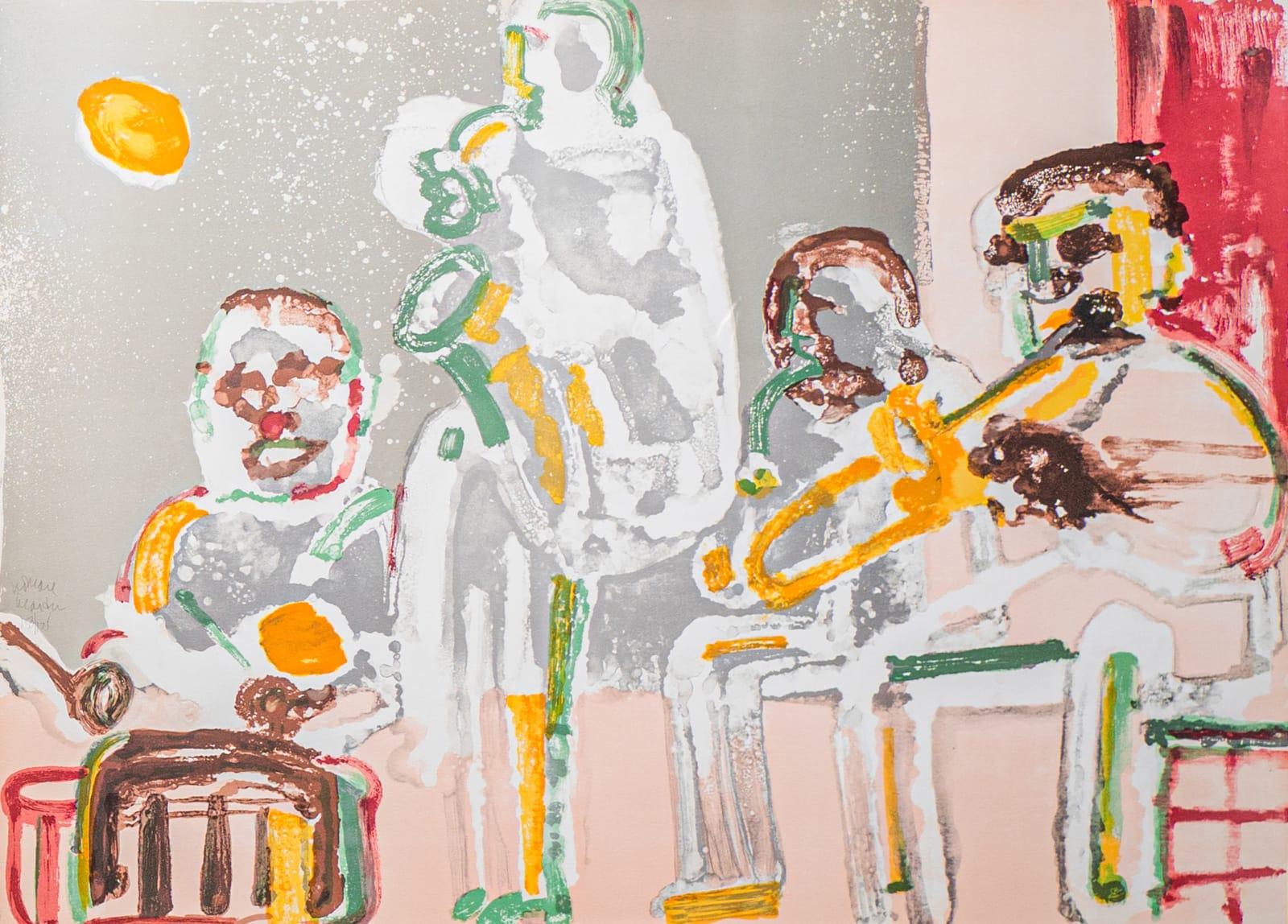 Romare Bearden, TENOR SERMON (SOLO PLAYER), 1979