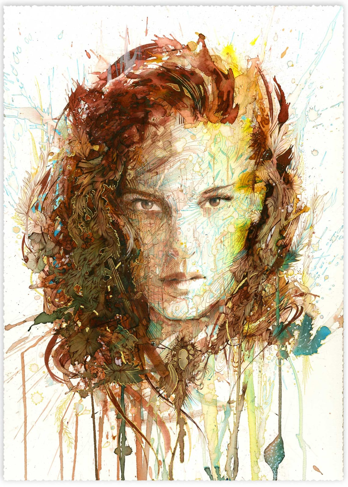 Carne Griffiths, The Brooch, 2020