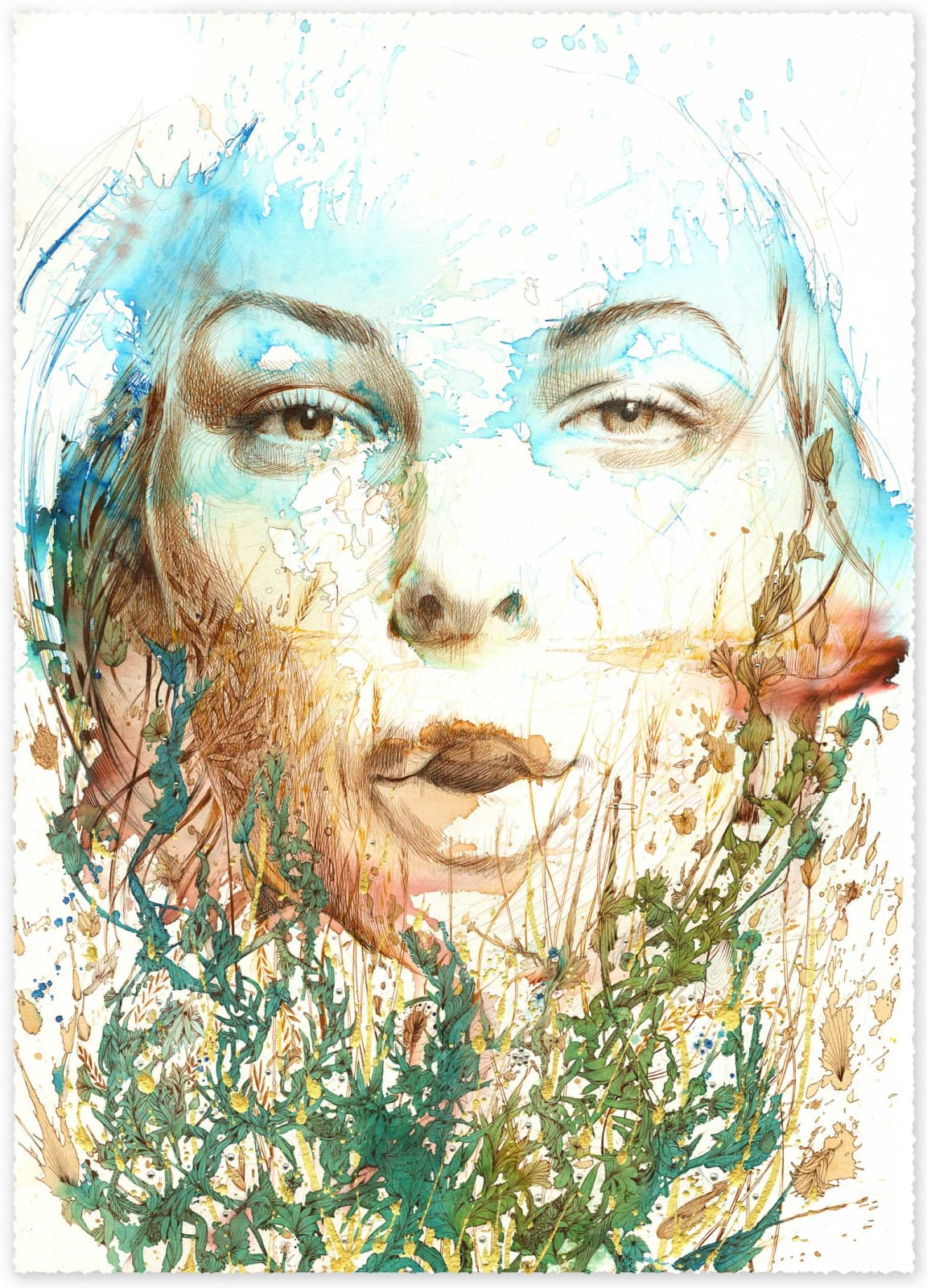 Carne Griffiths, The Meadow, 2020