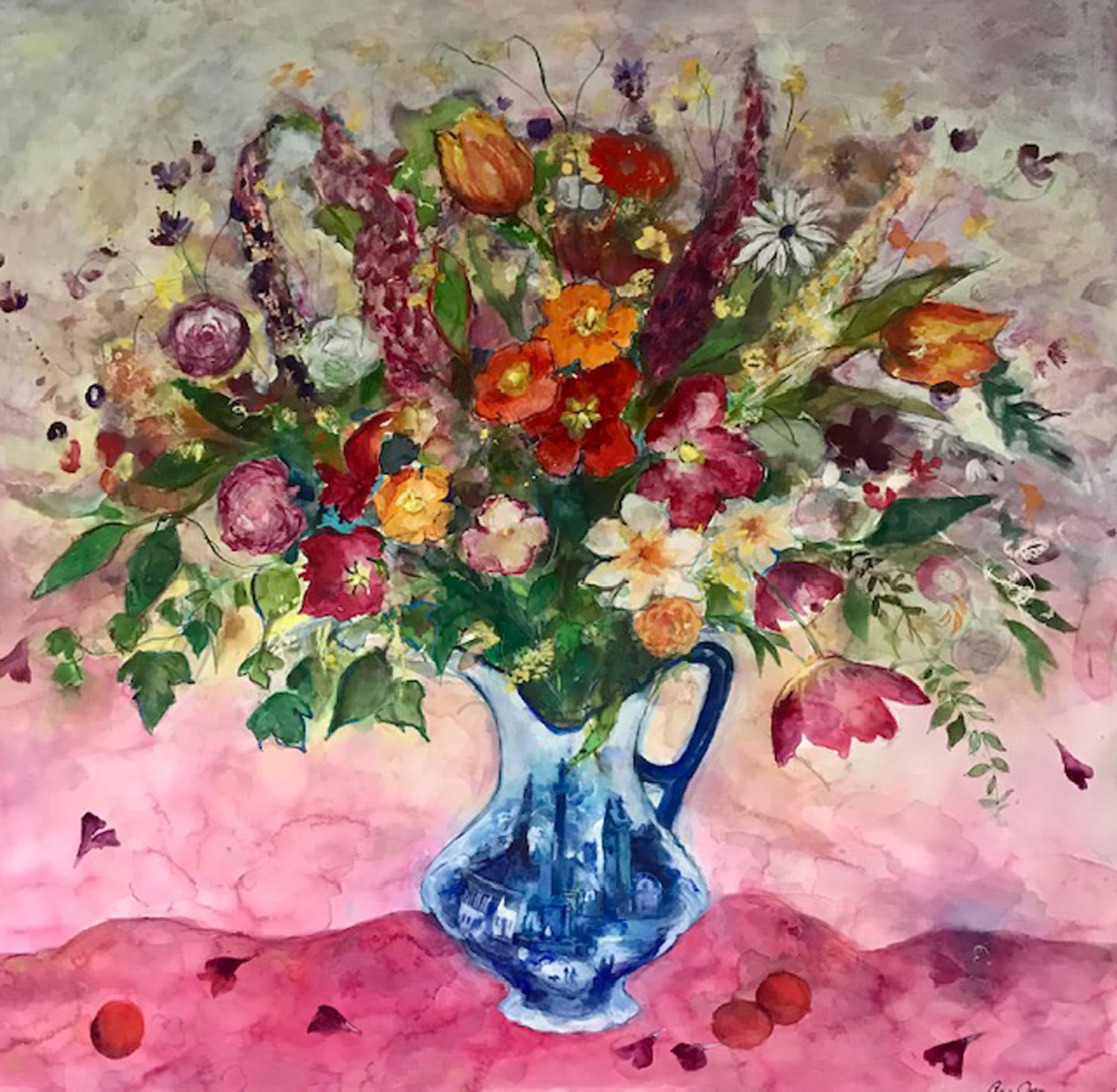 Ann Oram, Ballater: Summer Flowers and Petals