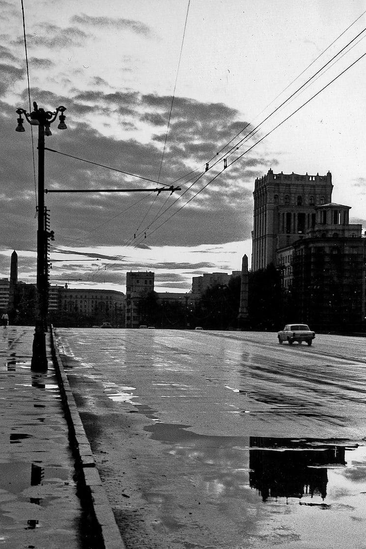 Jean-Christophe Béchet Moscou, URSS Tirage gélatino-argentique d'époque, réalisé par l'artiste 19 x 27 cm Dim. papier: 24 x 30 cm