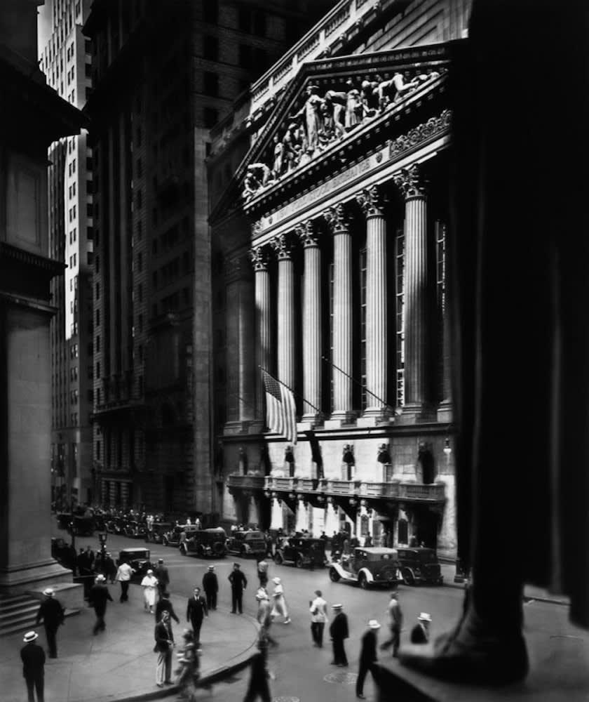 Berenice Abbott New York Stock Exchange Tirage gélantino-argentique postérieur 58 x 49 cm Dim. papier: 91 x 75 cm