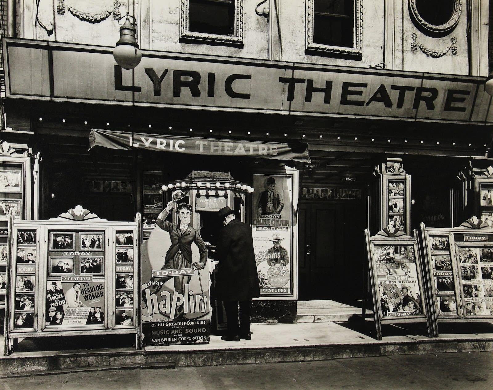 Berenice Abbott, Lyric Theater, 100 Third Avenue, 1936