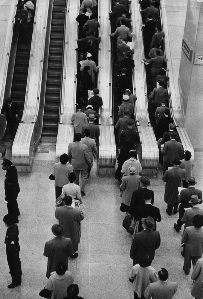 Sabine Weiss, Grand Central Terminal, New York, 1955