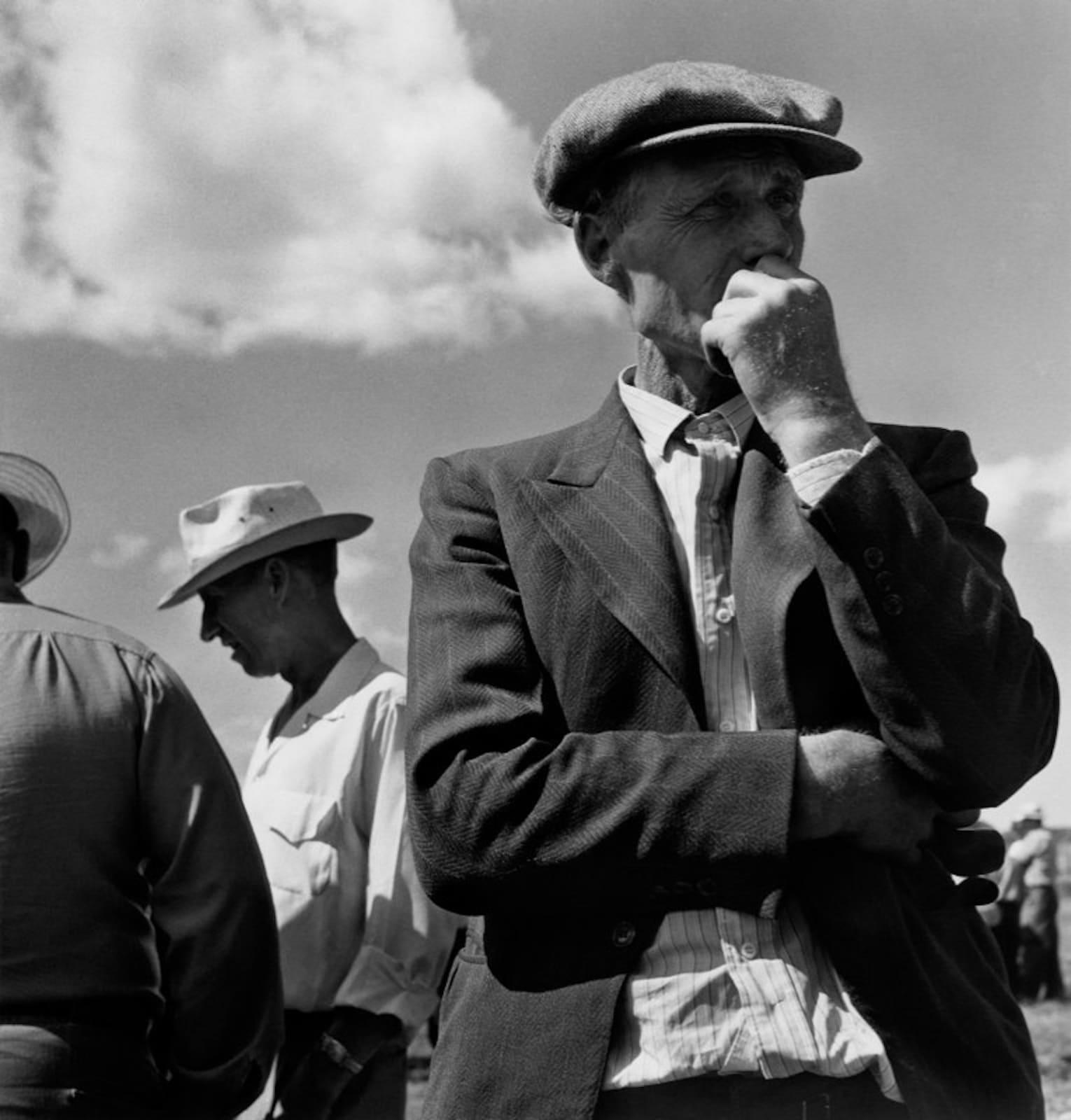 Berenice Abbott, Patato Farmers, Maine, 1954