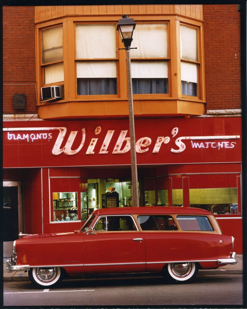 Bruce Wrighton, 1953 Nash Rambler, Wilber's Jewelers, Johnson City, NY, c. 1987
