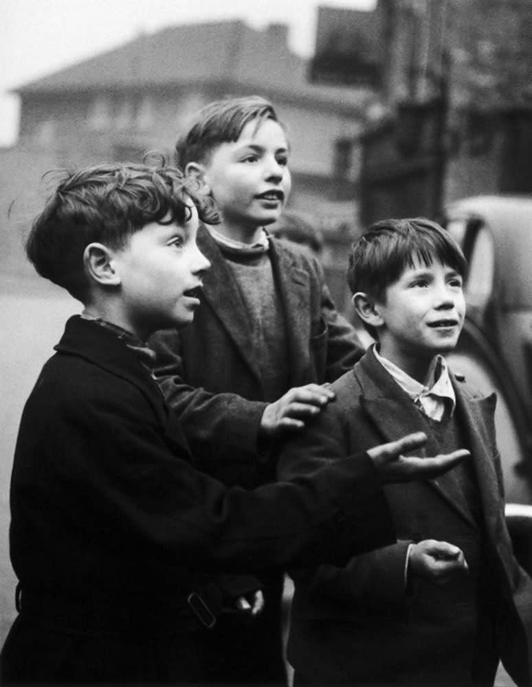 Sabine Weiss, Enfants, Londres, Royaume Uni, 1954