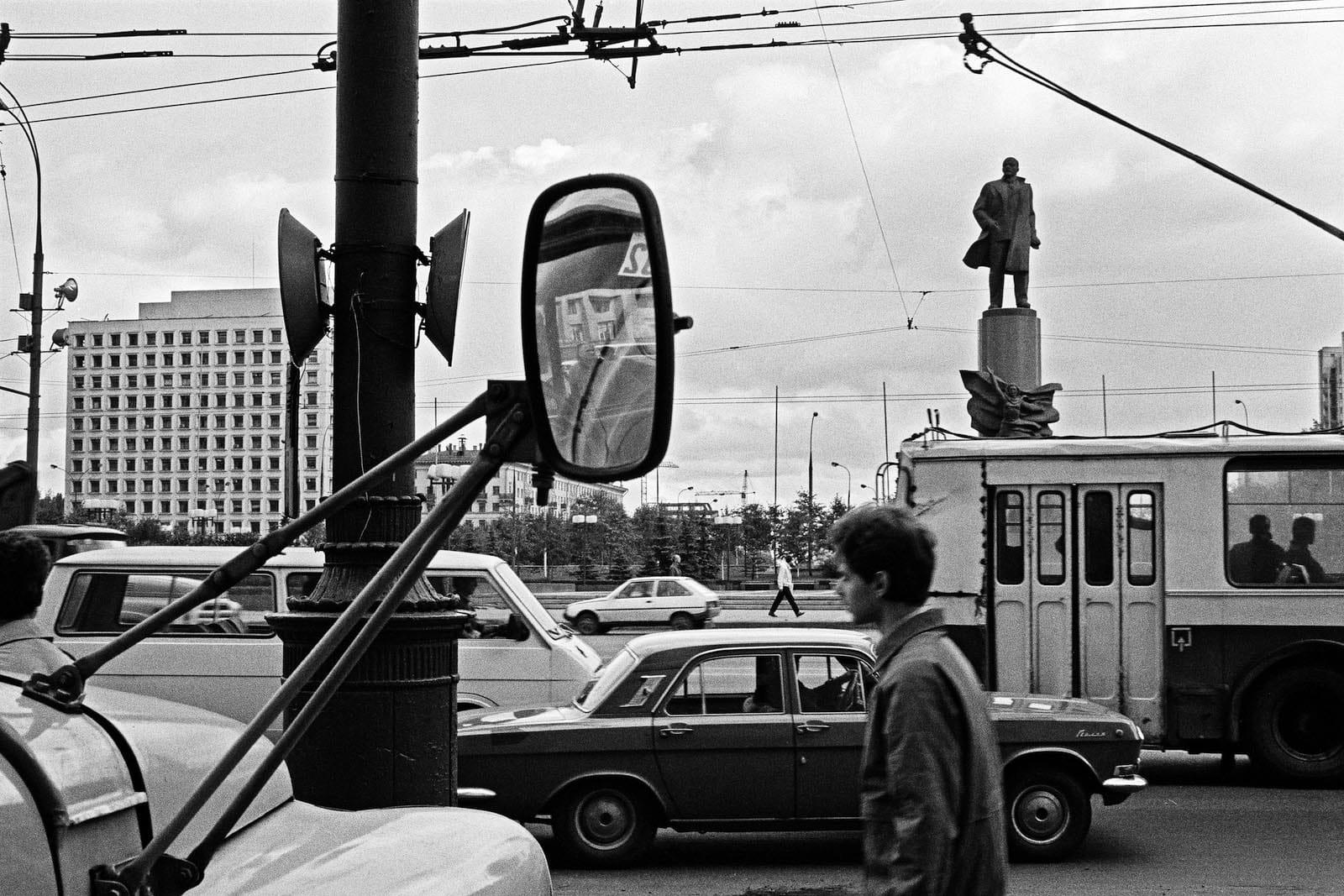 Jean-Christophe Béchet Moscou, URSS Tirage gélatino-argentique d'époque, réalisé par l'artiste 17,8 x 26,9 cm Dim. papier: 24 x 30 cm