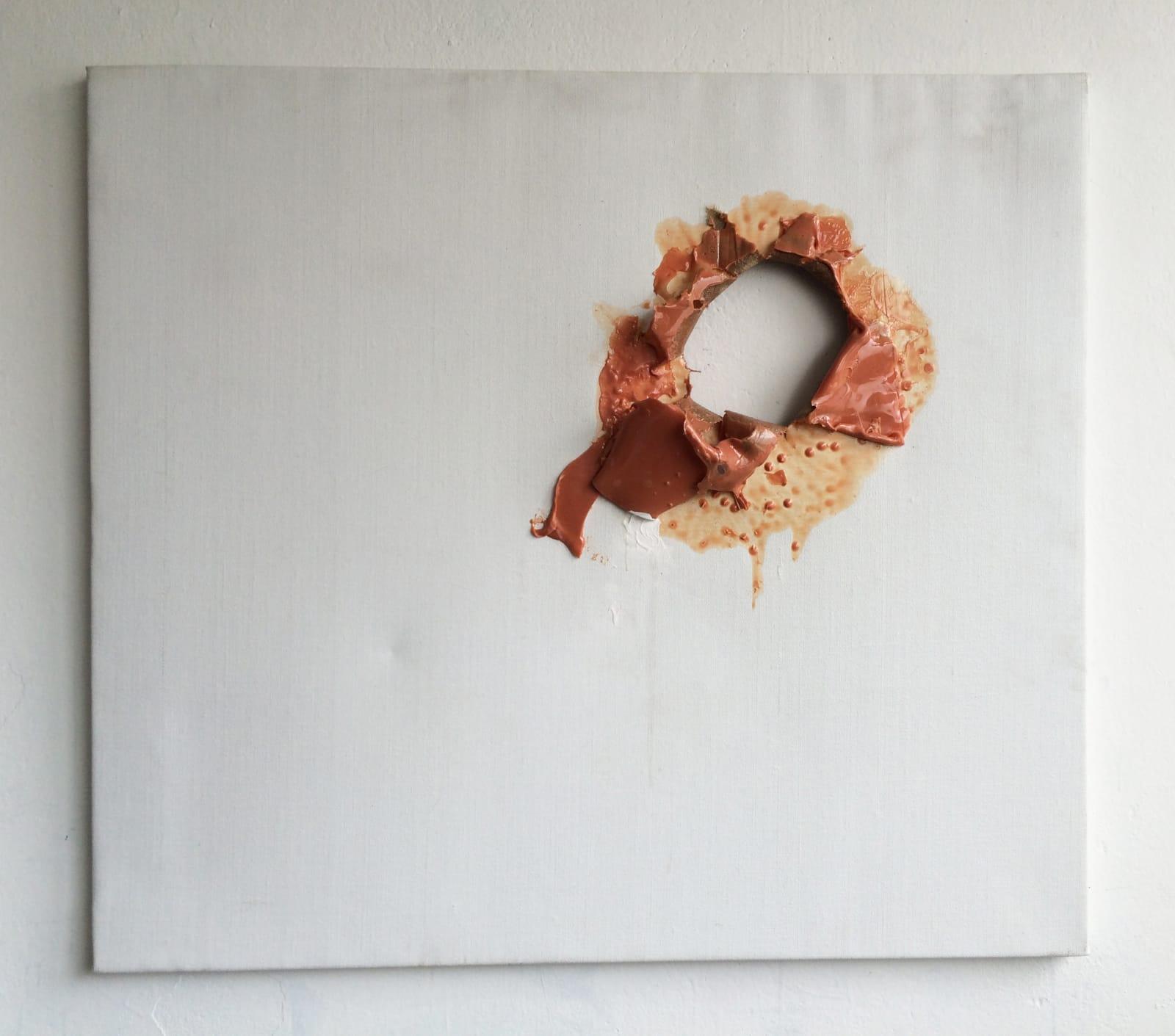Édouard Prulhière Painting with pink hole Technique mixte 93 x 108 cm