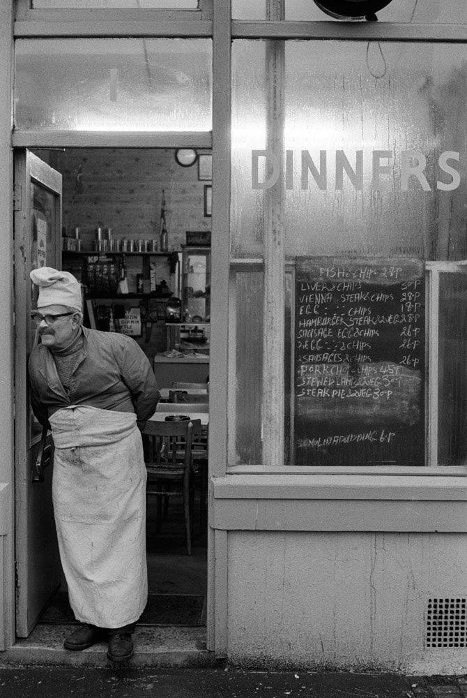 Homer Sykes, Chef's Dinners East London, 1974
