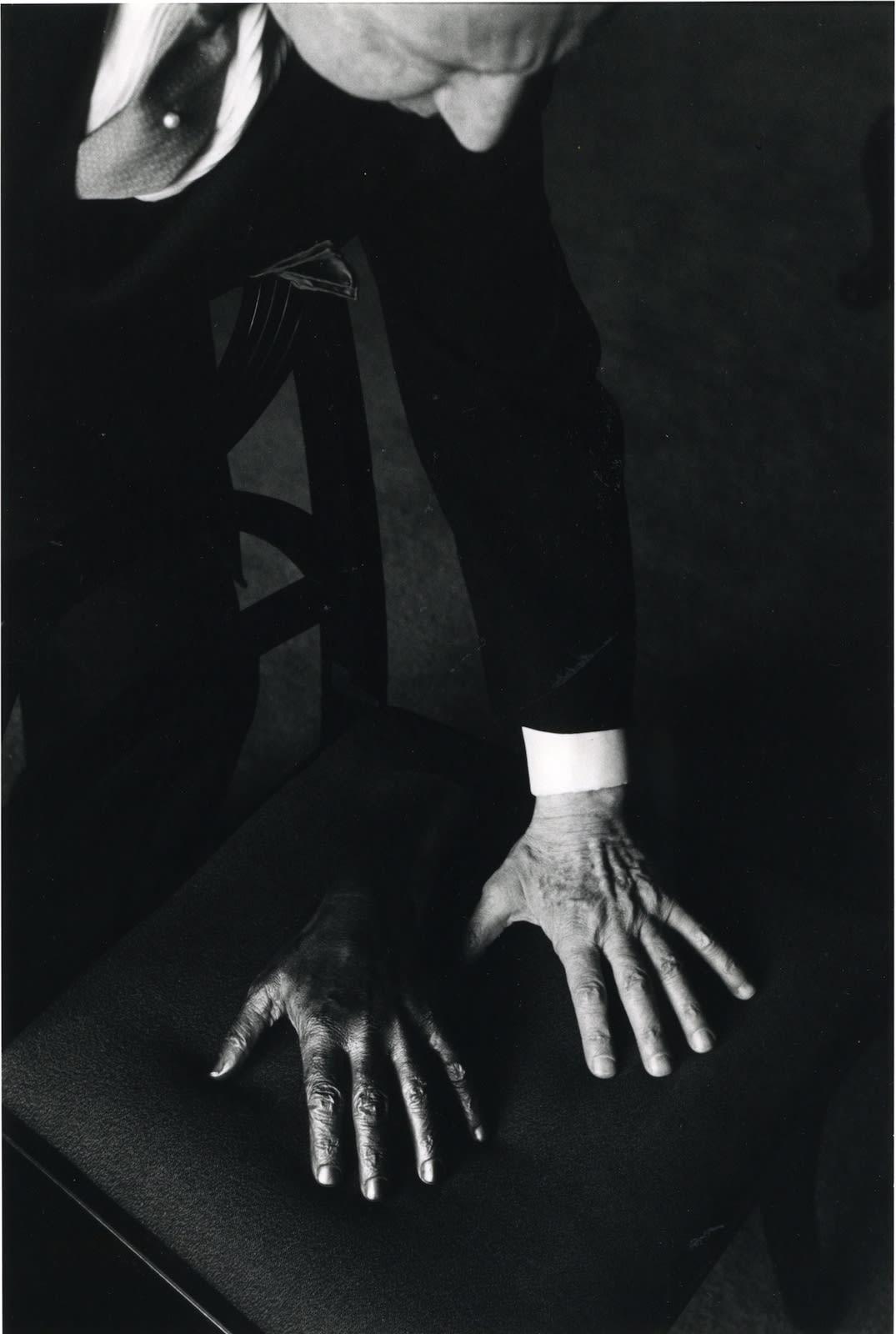 Ernst Haas, Arthur Rubinstein, Hand Sculpture, New York, 1961