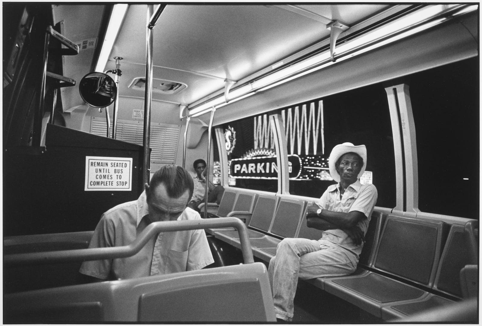Tom Arndt, Man riding a bus, Las Vegas, 1981