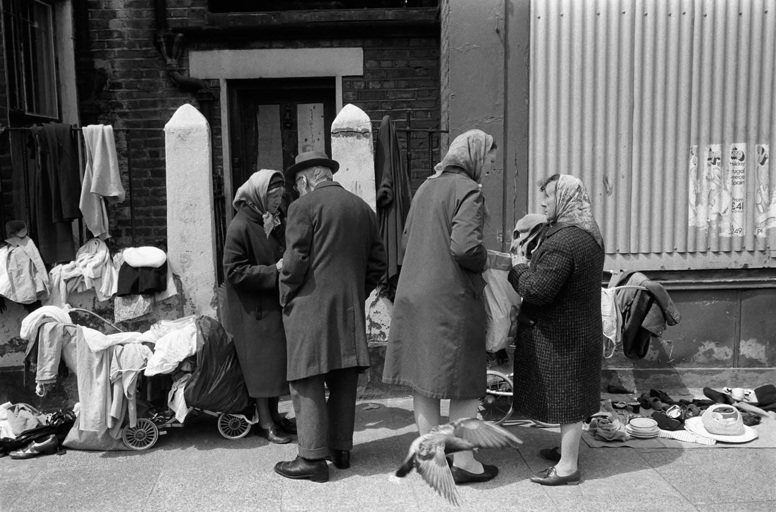 Homer Sykes, East end poverty, Whitechapel, London, 1972