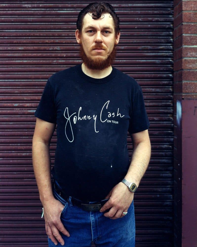 Bruce Wrighton, Man with Johnny Cash Tee-Shirt, Binghamton, NY, 1987