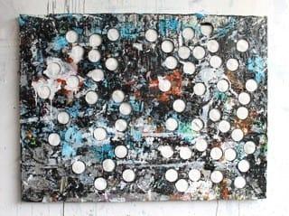 Édouard Prulhière Painting with holes Technique mixte 91 x 122 cm