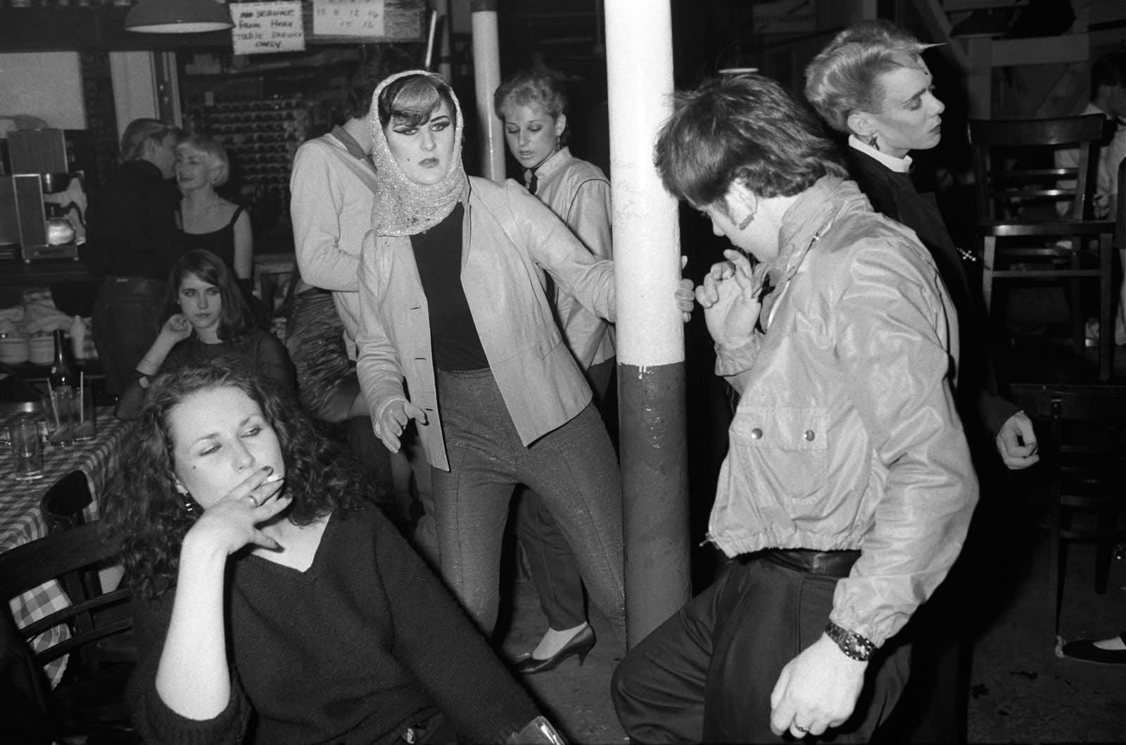 Homer Sykes, Blitz Kids at The Blitz Club, Covent Garden, London, 1980