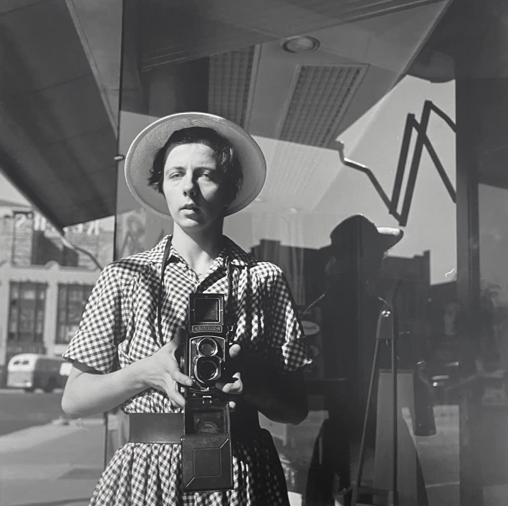 Vivian Maier, Self-portrait, 1954