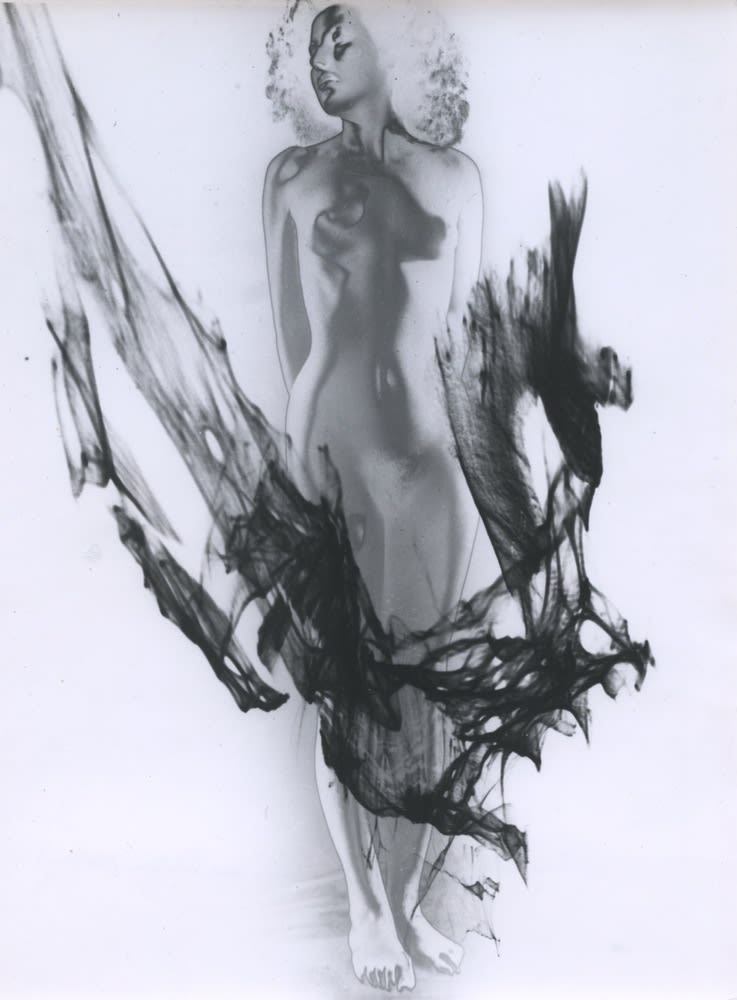 Pierre Boucher, Nu à la flamme noire (Étude pour les fleurs du mal), 1937