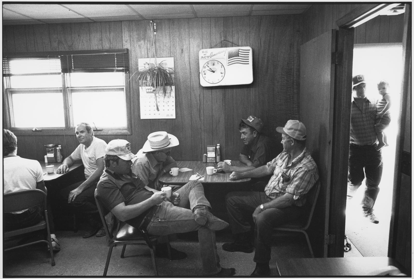 Tom Arndt, Coffee Shop, Auction Barn, Sleepy eye, Minnesota, 1985