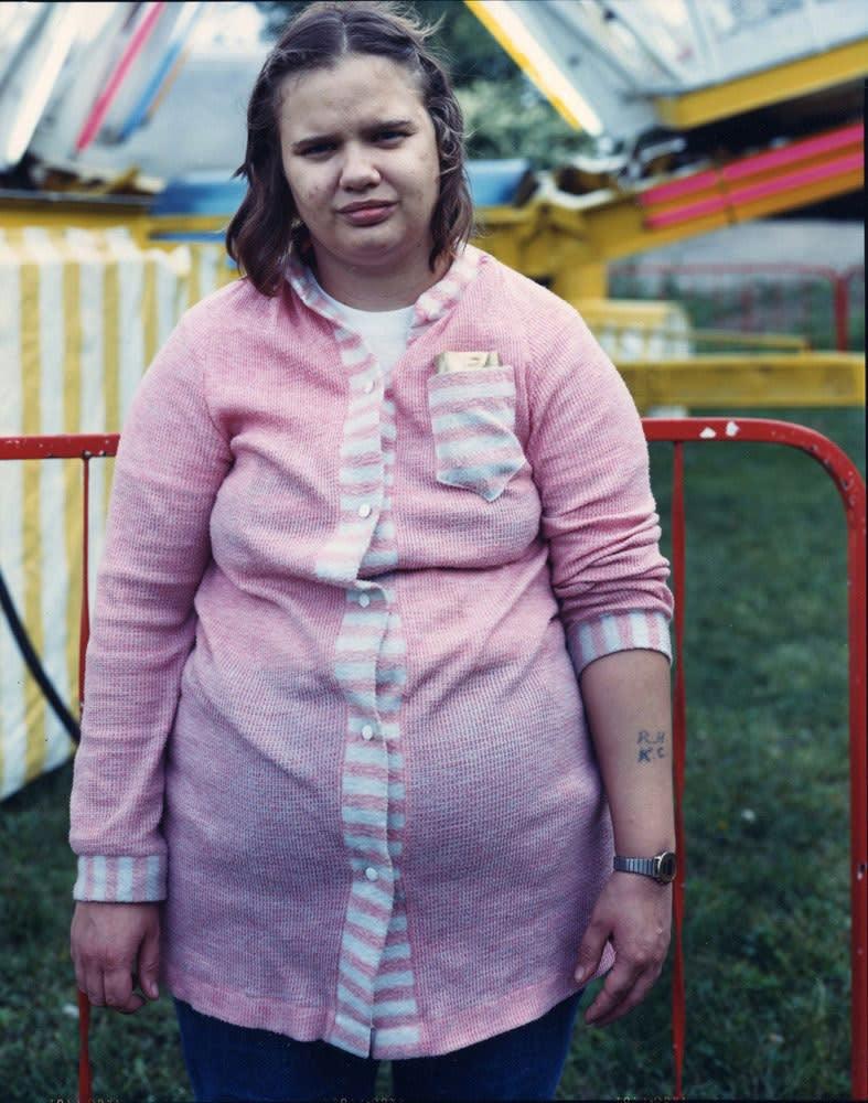 Bruce Wrighton, Woman in pink, Carnival, Johnson city, NY, 1987