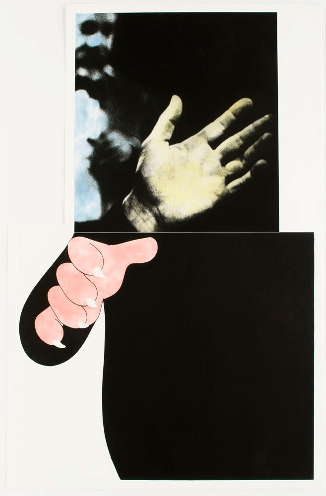 John Baldessari, Two Hands (with Distant Figure), 1989