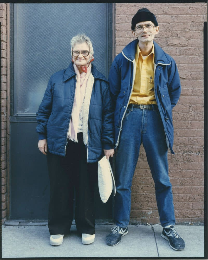 Bruce Wrighton, Downtown couple, Binghamton, NY, 1987