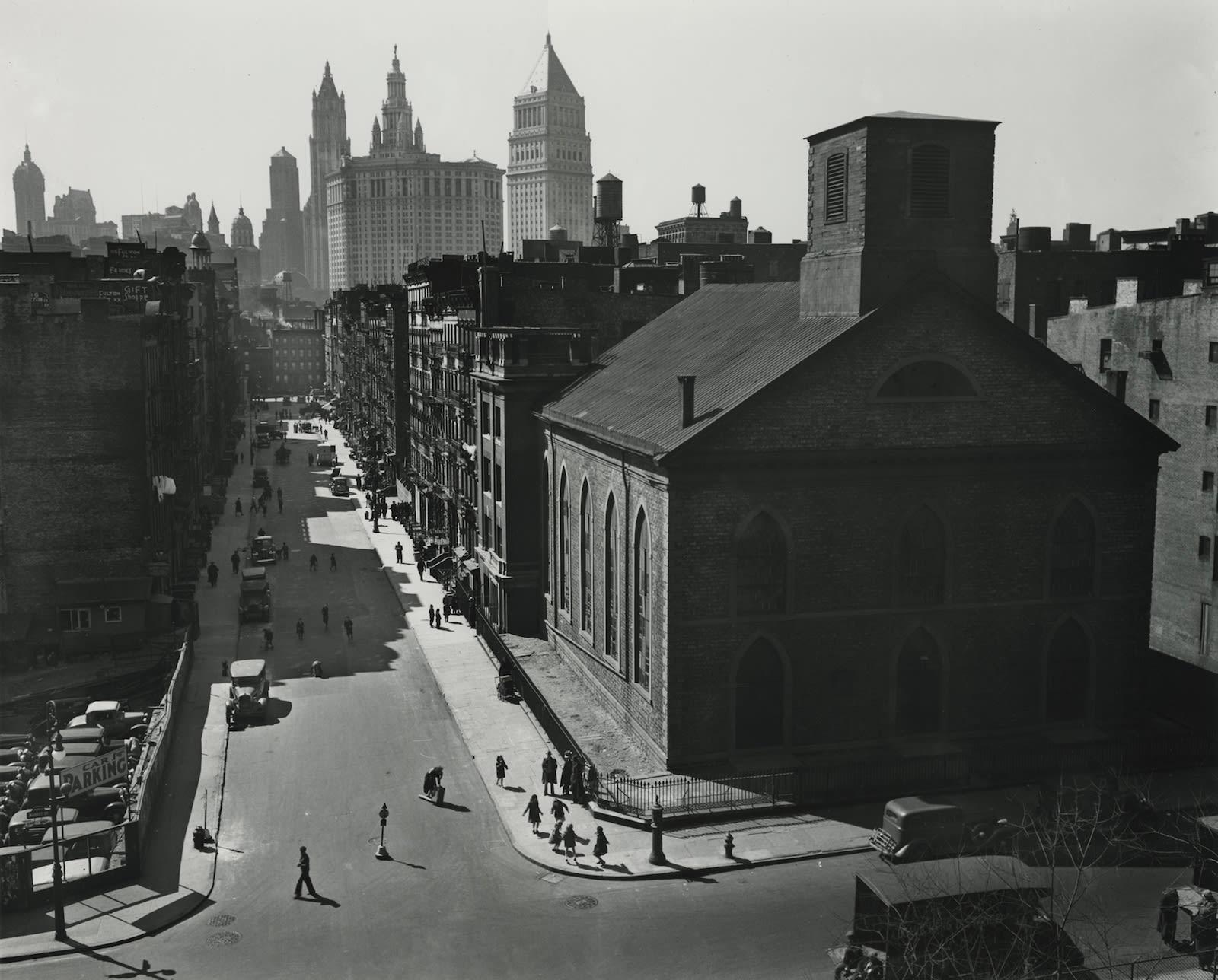 Berenice Abbott, View of Manhattan from the Manhattan Bridge, 1937