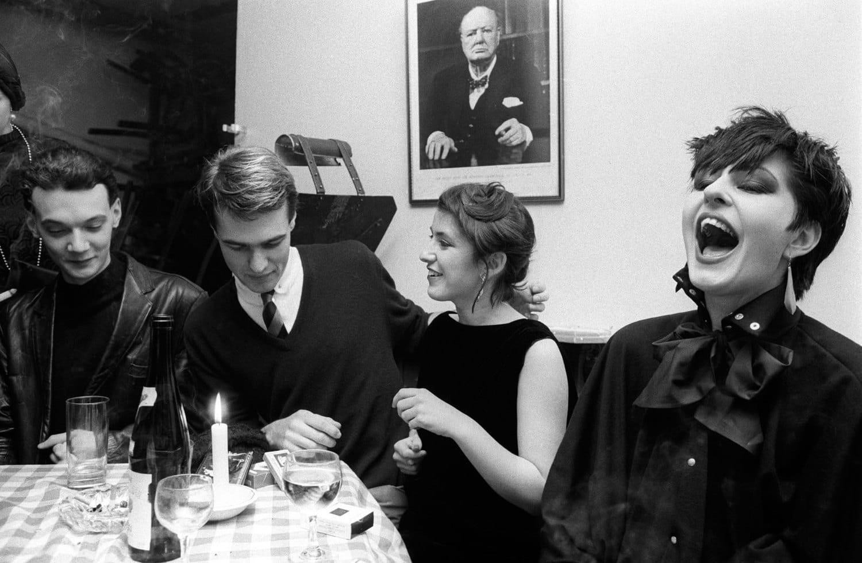 Homer Sykes, Blitz Kids and Winston Churchill at the Blitz Club, Covent Garden, London, 1980