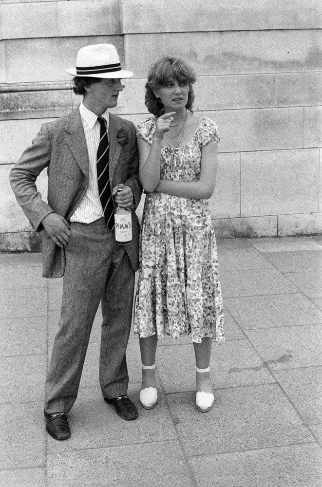 Homer Sykes, Couple at the Eton v Harrow cricket match, St Johns Wood, London, 1978