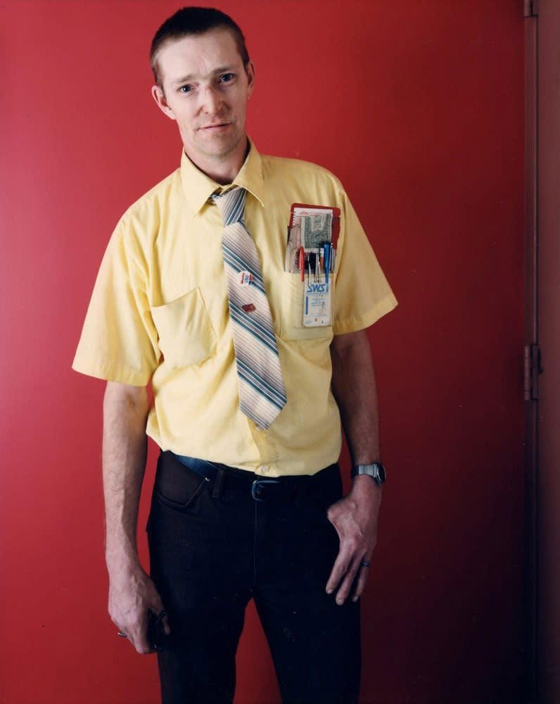 Bruce Wrighton, Man with Pocket Pens, Binghamton, NY, 1987