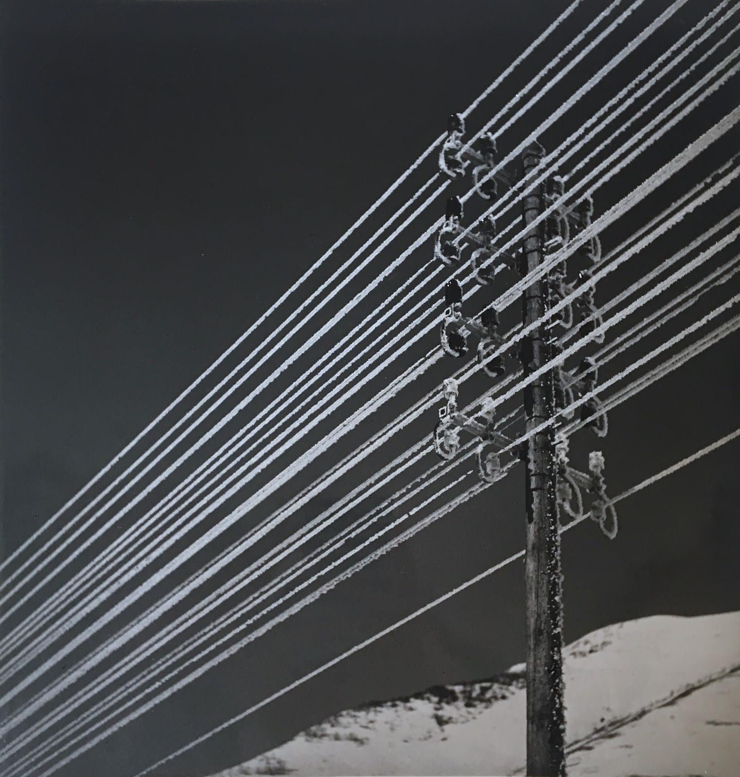 Emeric Feher, Lignes électriques enneigés, Alpe d'Huez, 1937