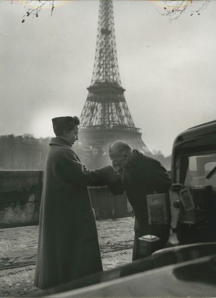 Sabine Weiss, Vieux russe, chauffeur de taxi, Paris, 1954