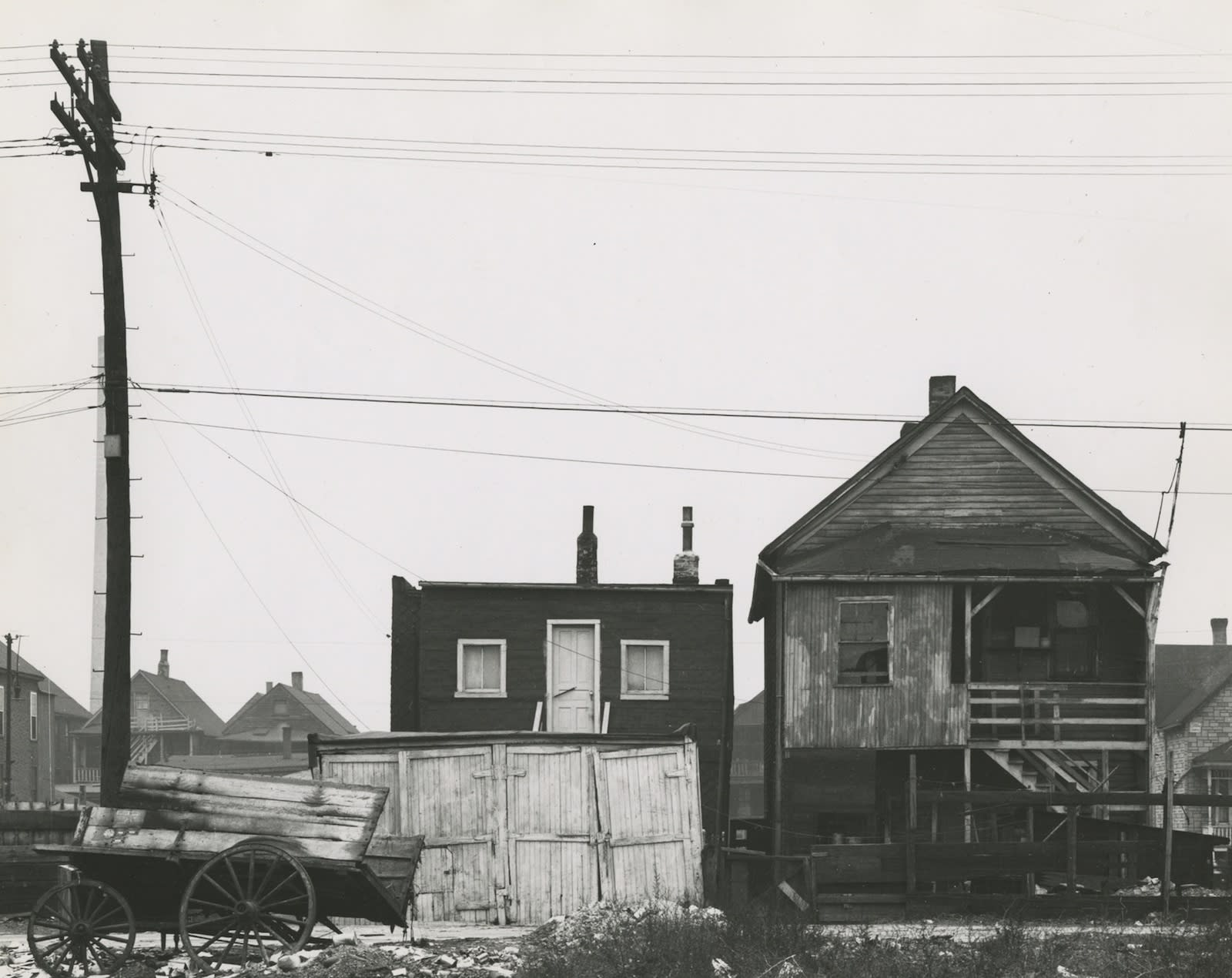 Marvin E. Newman, Wooden Houses, Southside, Chicago, 1950