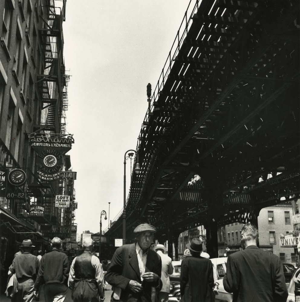 Berenice Abbott, Under the El at the Bowery, New York, 1936